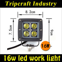 12v 16w led work light for offroad,sun,atv,4x4,4WD,truck roshe run