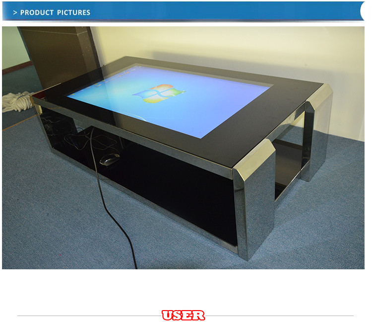 Alibaba's best ranked supplier touch screen coffee table with wifi/lan/pc/