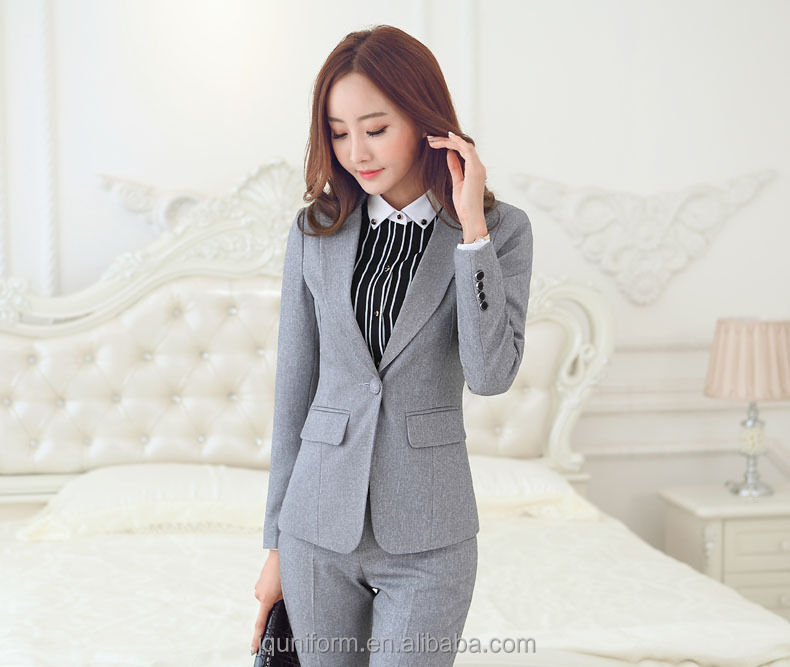Juqian Fashion high quality women suit office ladies uniform design