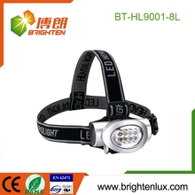 Factory Custom Made abs Size Multi-color 8 led mining headlamp