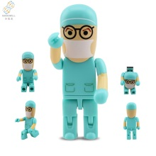 Hospital Promotional Gift Fineness keychain 1gb 4gb 8gb Nurse Doctor Shape USB Flash drive