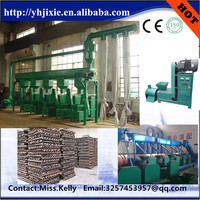 Manufacture directly sell coconut shell charcoal making machine , barbeque charcoal briquette machine , charcoal