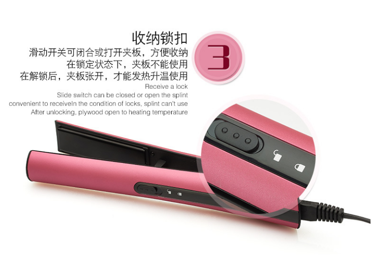 2018 New design steam automatic magic ceramic travel home cheap professional hair straightener portable mini cordless hair iron