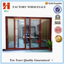 2.0mm aluminium sliding door with mosquito net for house using