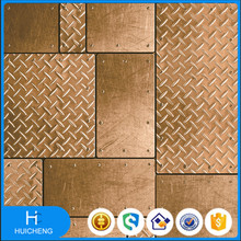600*600 mm New design artificial metal tile for Bar and KTV floor tile