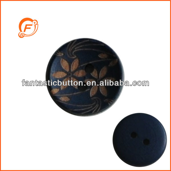 round shape 2 hole laser engraved coconut button for garment