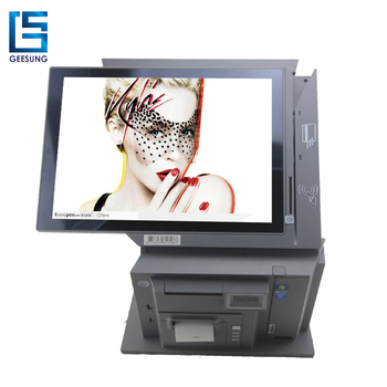2017 New Model 15 Inch All In One Pos With Barcode Scanner/Printer/NFC Reader