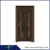 Entry security fire rated steel doors,used wrought iron gate door prices