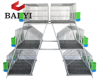 2020 Hot Sale 4 Layers 24 Cells Commercial Rabbit Farming Cage