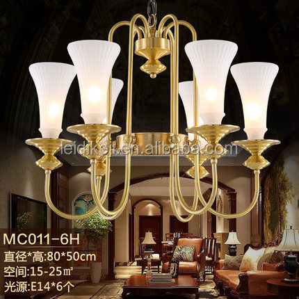 Modern copper hanging lighting chandelier light fixtures for office