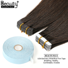 Hair Manufacturers In China 100% Virgin Remy Malaysian Double Side #2 Color Adhesive White Stick Keratin Tape Hair Extension