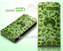 Clearly cartoon Cases for iphone 4 leather bag
