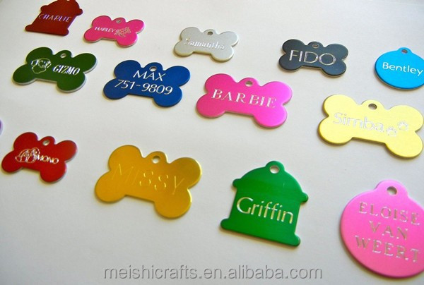 PET TAGS ID CUSTOM ID TAGS DOUBLE SIDED DIAMOND ENGRAVED DOG CAT NAME CHARM TAG