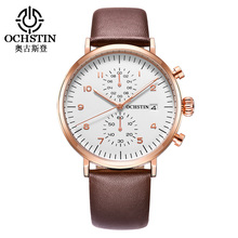 Wholesales Classical Ultrathin Multifunction Chronograph Mens Wrist Watch Quartz Watches For Man