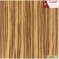 reconstituted wood veneer for custom furniture decoration Zebrano(586S)