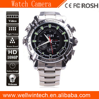 8GB 1080P Shock Resist hand Watch video Camera With IR Night Vision