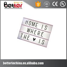 Outdoor A4 Size LED Slim Light Box Photo Movie Cinema Light Box Cinematic Letters Light Box