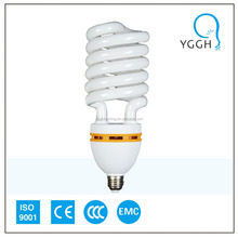 HALF SPIRAL CFL (7~125W) ENERGY SAVING BULB; cfl raw material skd/completed bulb
