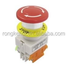 Red Mushroom Cap 1NO 1NC Emergency Stop Push Button Switch AC 660V 10A