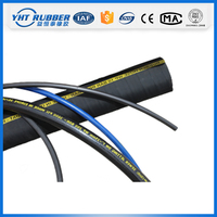 Factory direct sales wire braided hydraulic hose pipe,large diameter hydraulic hose,wire braided rubber hydraulic hose