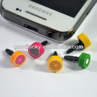 Fruit shape Dust plug ear cap for phone gifts