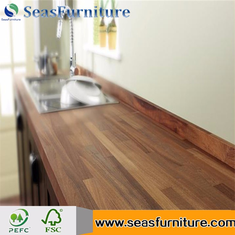Acacia wood finger Jointed board wood Worktop Countertop Benchtop Table top solid wood