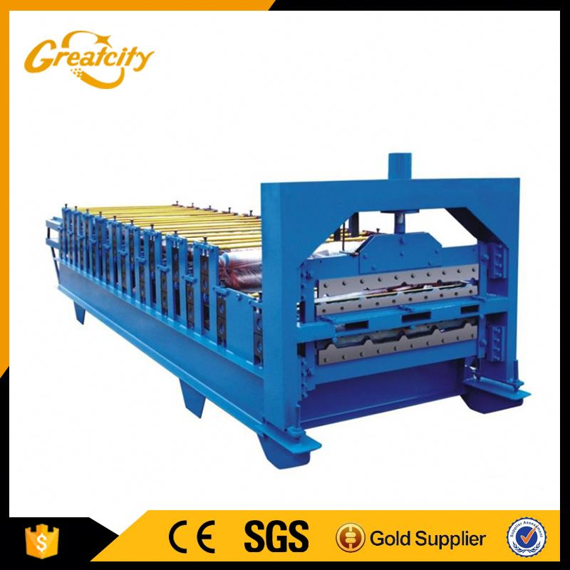 polishing tile unloading machine colored steel roof tile press machine