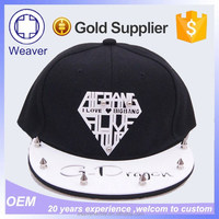Best Selling Hot Chinese Products Custom Flexfit Plastic Letters Snapback 6 Panel Hat Cap