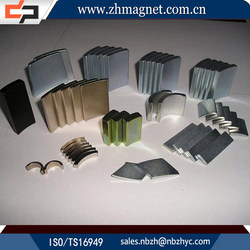 high performance strong permanent electric motor segment magnet