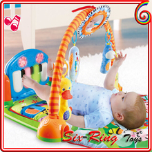 Soft Funny music baby gym mat Non-toxic baby toys mat fisher price baby play mat