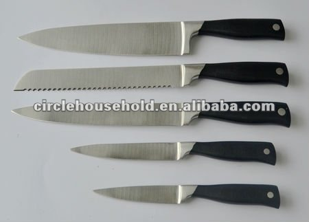 5 pcs knife set decorative kitchen knives with forged handle