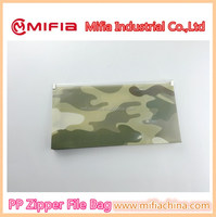 China wholesale pp poly a5 small custom printed document file bag with plastic zipper