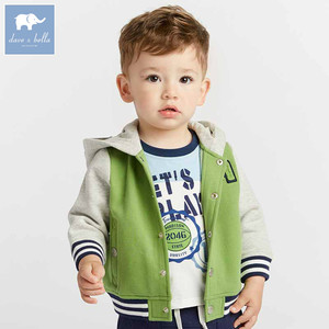 DBA7802 dave bella autumn baby boy clothes children fashion coat infant toddler high quality clothing