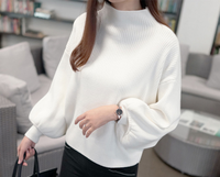 2019 New Winter Women Sweaters Fashion Turtleneck Batwing Sleeve Pullovers Loose Knitted Female Jumper Tops Sweaters