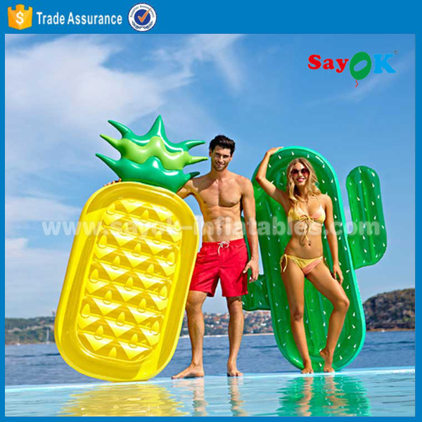 hot sale giant pvc inflatable pineapple float for swimming pool manufacture