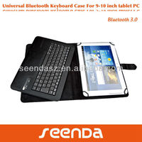 Universal Bluetooth Wireless Keyboard Case for IOS + Android + Windows 9 to 10 Inch Tablets