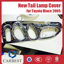 High Quality New ABS Chrome Tail Light Cover for Toyota Hiace 2005