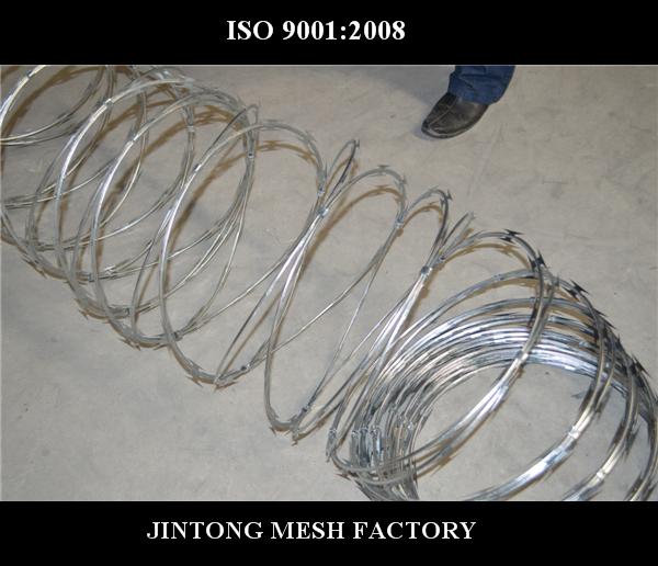 BTO10 blade barbed razor mesh tape type Concertina Circle Wire