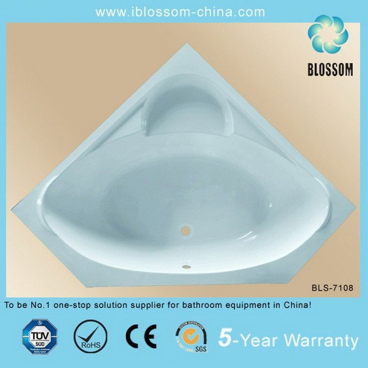 corner sitting triangular hydraulic bathtub