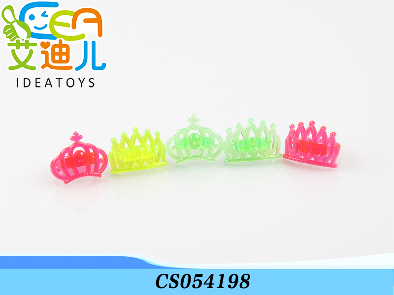 Made in shantou new crown shape plastic ring