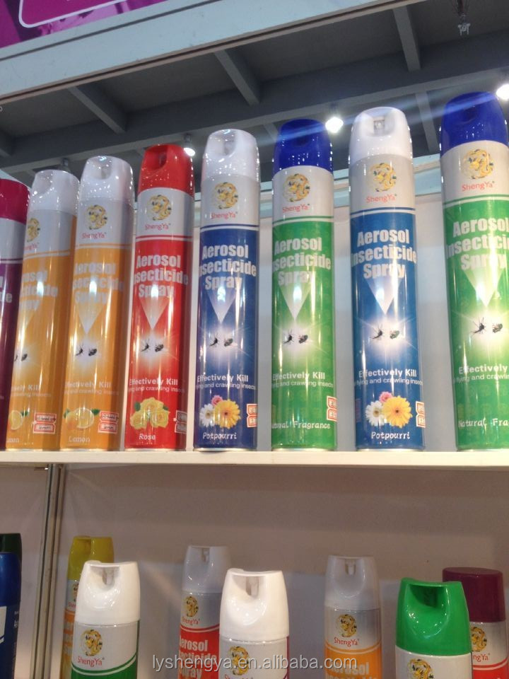 Efficient household alcohol based aerosol pesticide insecticide spray products