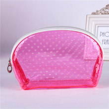 Promotion clear cosmetic bag pvc,Gift Free clear plastic cosmetic bag transparent