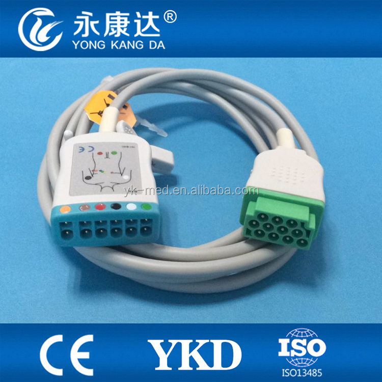 GE Multi-Link Compatible ECG Trunk Cable for 2022948-001 (3 or 5 Leads)