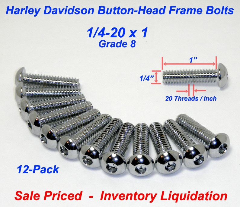 Socket button head Chrome plated grade 8 steel 1420