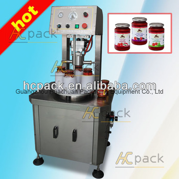 HCXG-ZK88A Semi-automatic Glass Bottle Vacuum Capping Machine