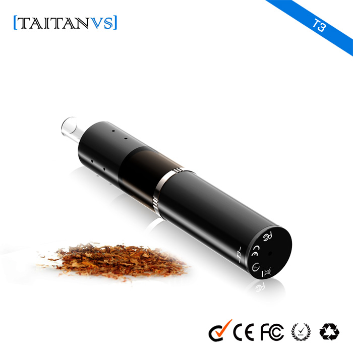 New arrival oem factory temperauture adjustable hidden OLED display glass china smoking herbal vaporizer titan(T3)