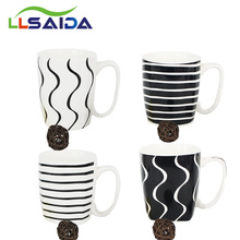 Ceramics made in china cheap black and white mug wholesale online marketplace ceramics tableware