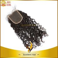Long Lasting 100% Virgin Human hair 130% density human hair closure