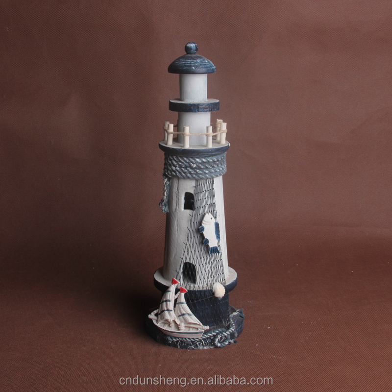 innovative design wood light tower lighthouse crafts with cheap price