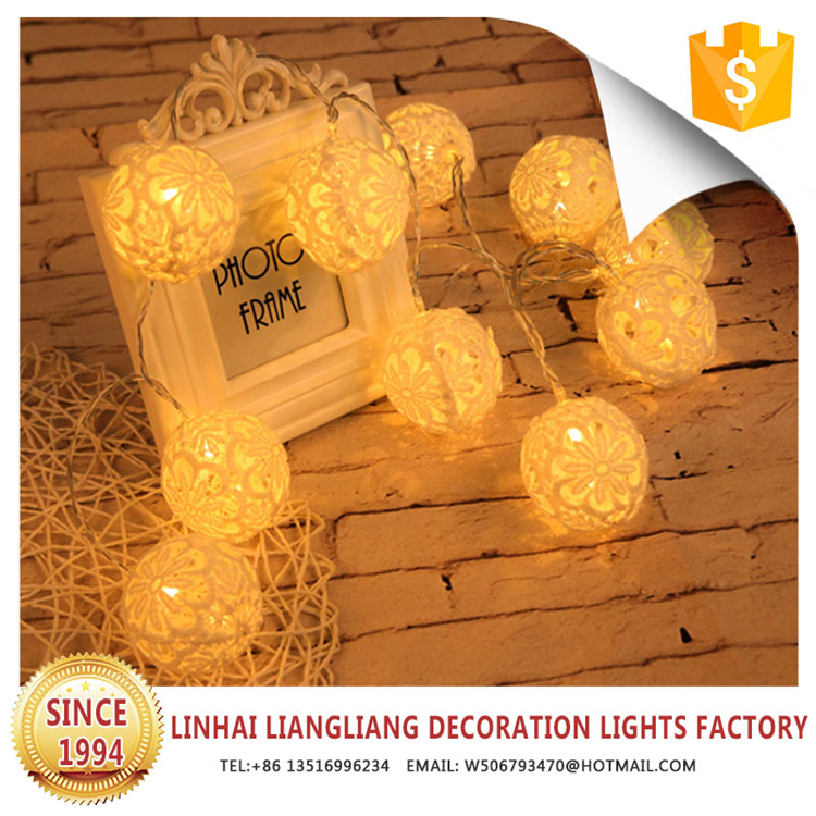 best sale cotton ball fairy string lights new products 2018